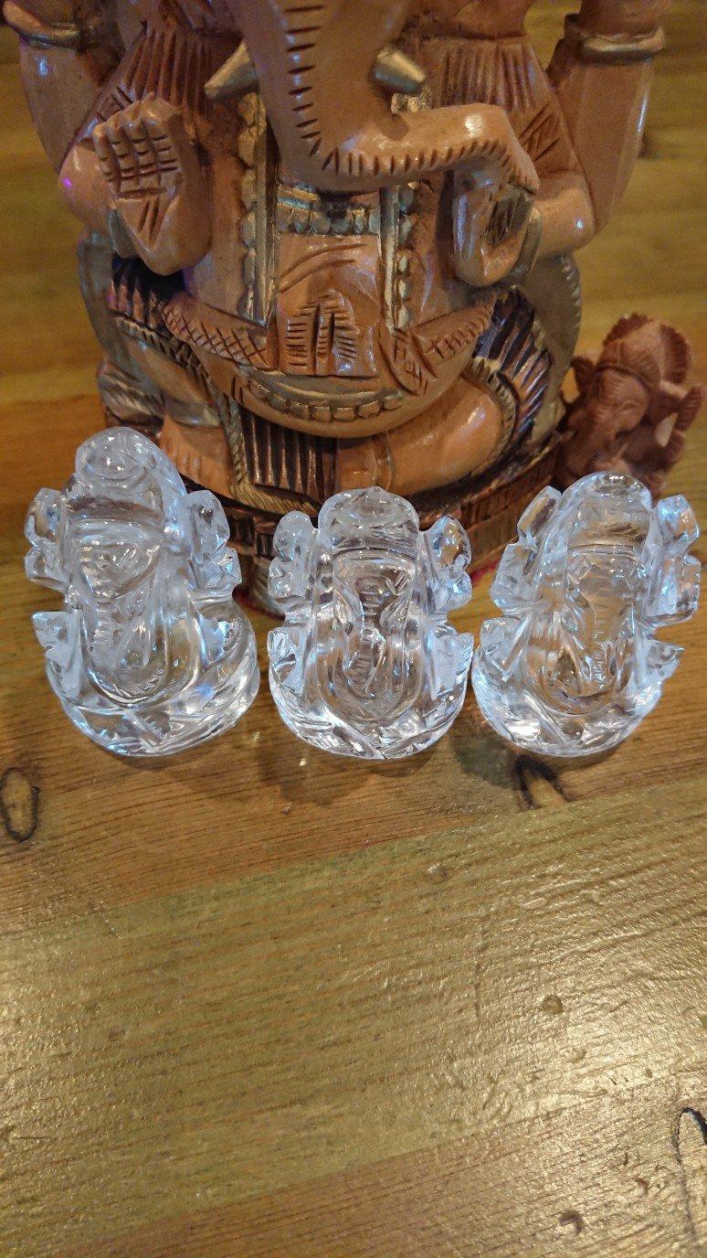 ヒマラヤ水晶ガネーシャ像